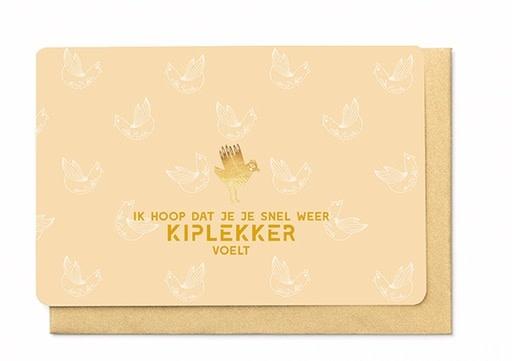 Enfant Terrible Enfant Terrible card  + enveloppe 'Ik hoop dat je je snel kiplekker voelt'