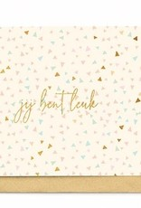 Enfant Terrible Enfant Terrible card  + enveloppe 'Jij bent leuk'