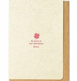 Enfant Terrible Enfant Terrible card  + enveloppe 'Ik wens je het allerbeste'