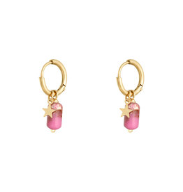With love Earrings candy - Pink