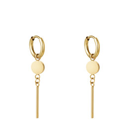 With love Earrings so what gold