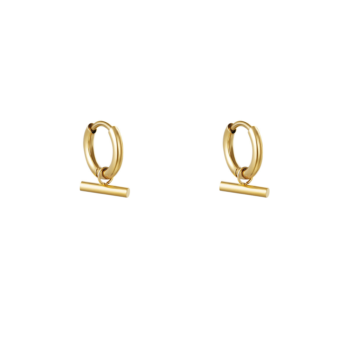 With love Earrings bar gold