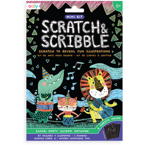 Ooly Scratch & scribble min kit 'Safari party'