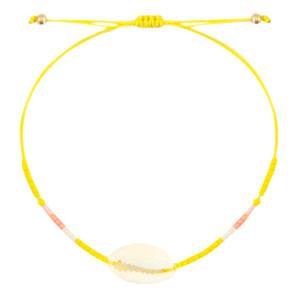 With love Bracelet kauri miyuki sunflower yellow