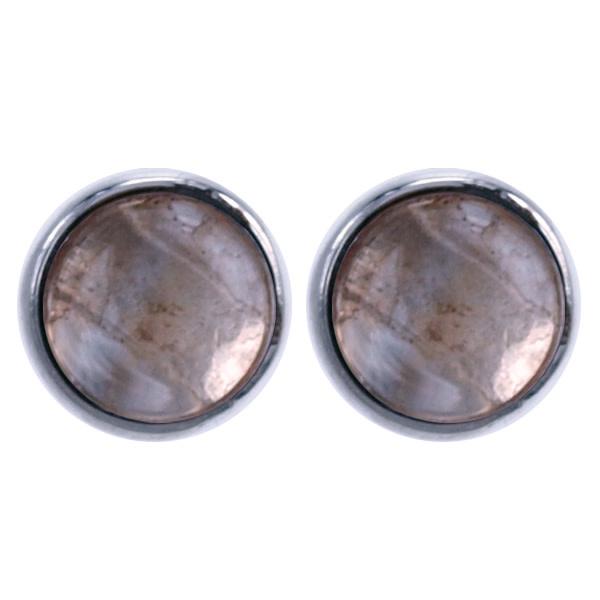 Treasure Silver earrings facet citrine 6 mm