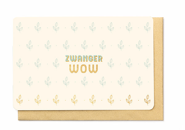 Enfant Terrible Enfant Terrible card  + enveloppe 'Zwanger WOW'