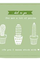 Enfant Terrible Enfant Terrible card  + enveloppe 'Stuck on you! I've met a lot of pricks'