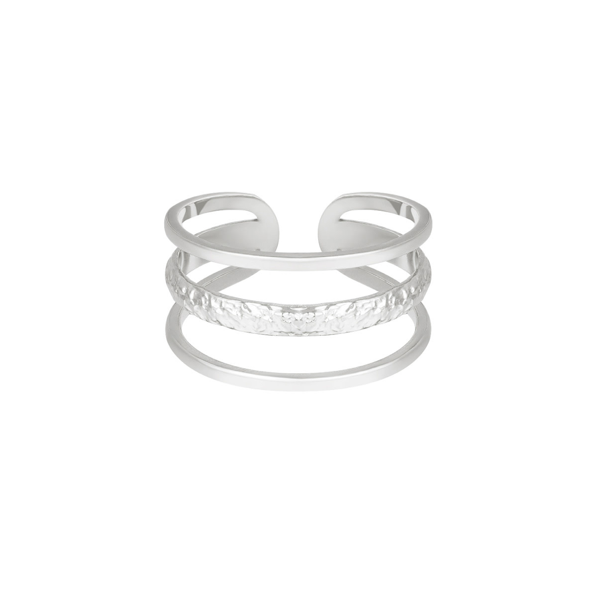 With love With Love ring - Layers - silver