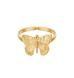 With love With Love ring - Butterfly gold