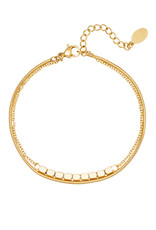 With love Bracelet elegant - gold