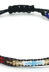 With love Bracelet glass beads - black multi