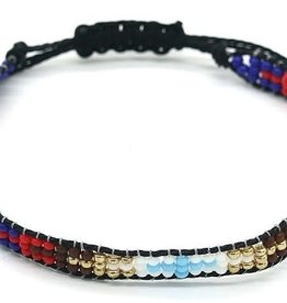 With love Bracelet glass beads - black multi