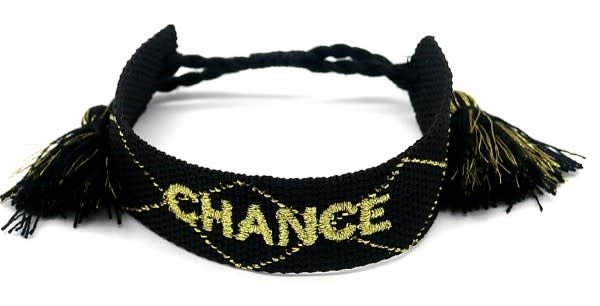 With love Woven bracelet - Chance black