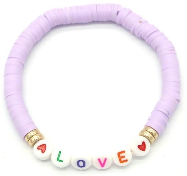 With love Surf bracelet LOVE purple