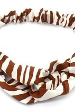 With love Headband zebra camel