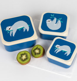 Rex London Set of 3 snack boxes Sydney the sloth