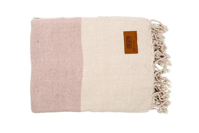Mrs. Bloom Throw check - old pink 130 x 170 cm