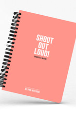 Studio Stationary Pink notebook 'Shout out loud' - 17,6 x 25 cm