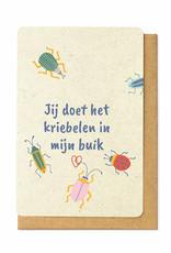 Enfant Terrible Enfant Terrible card  + enveloppe 'jij doet het kriebelen in mijn buik'