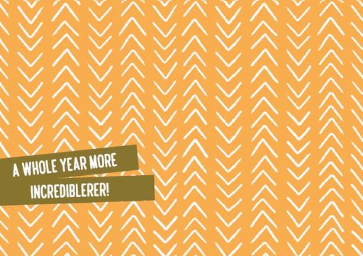 Enfant Terrible Enfant Terrible card  + enveloppe 'A whole year more incredibeler'