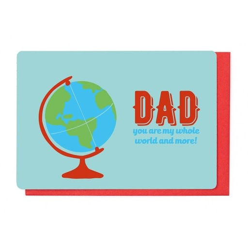 Enfant Terrible Enfant Terrible card + enveloppe 'Dad you are my whole world'