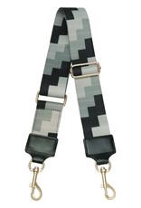 With love Bag strap blocks - grey black