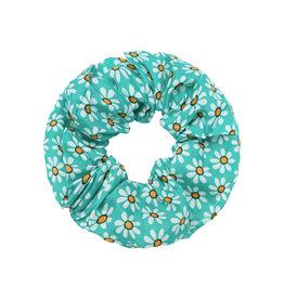 With love Scrunchie Flora green
