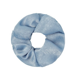 With love Scrunchie satin feel - Light blue