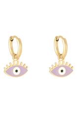With love Earrings pastel eyes violet
