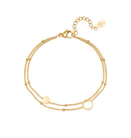 With love Bracelet karma gold