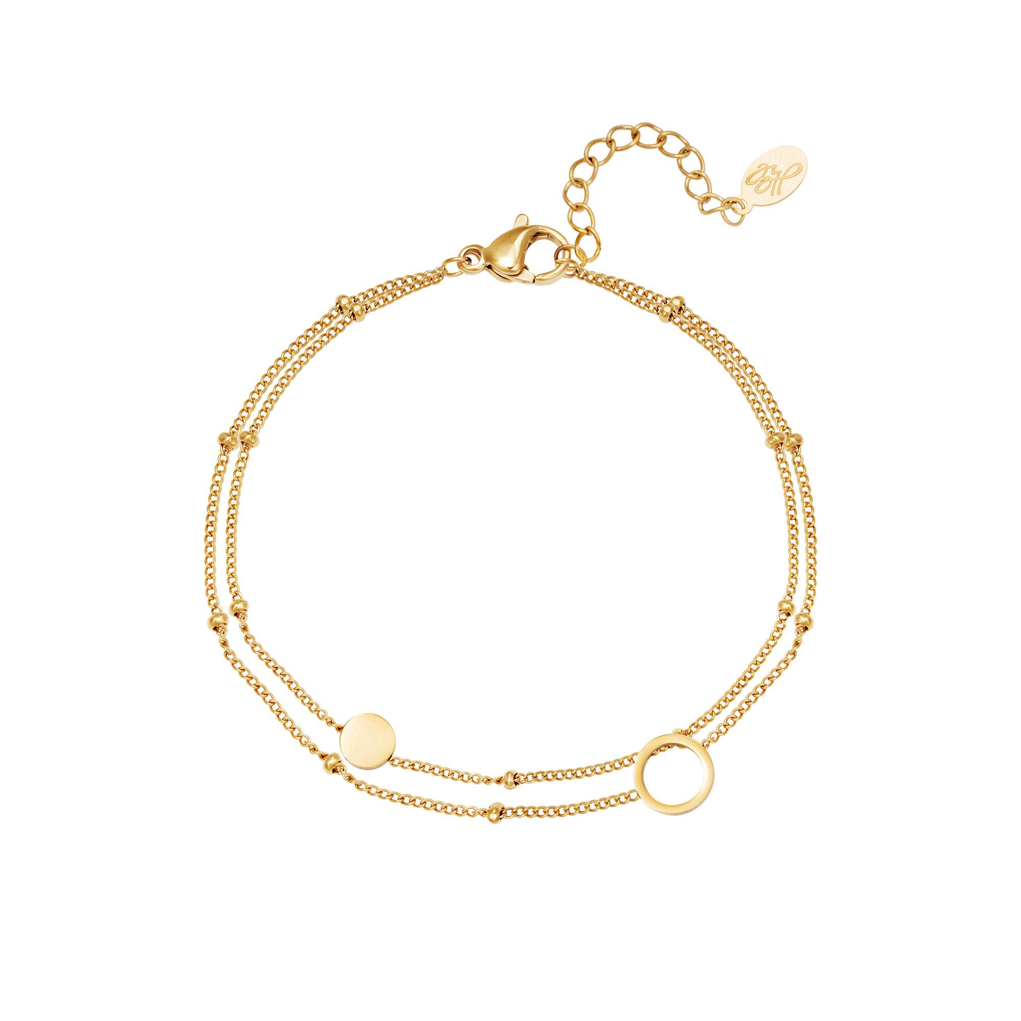 With love Bracelet karma gold