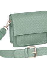 With love Bag braided  Green 18cm x 15cm