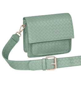 With love Bag braided  Green 18cm x 15cm