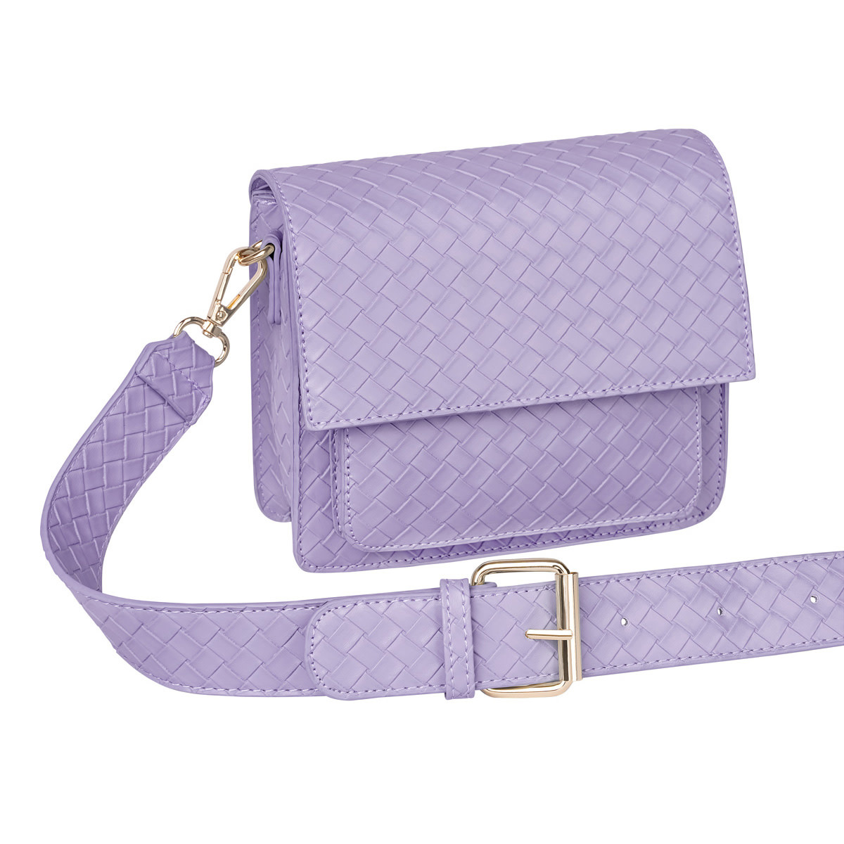 With love Bag braided  Violet 18cm x 15cm