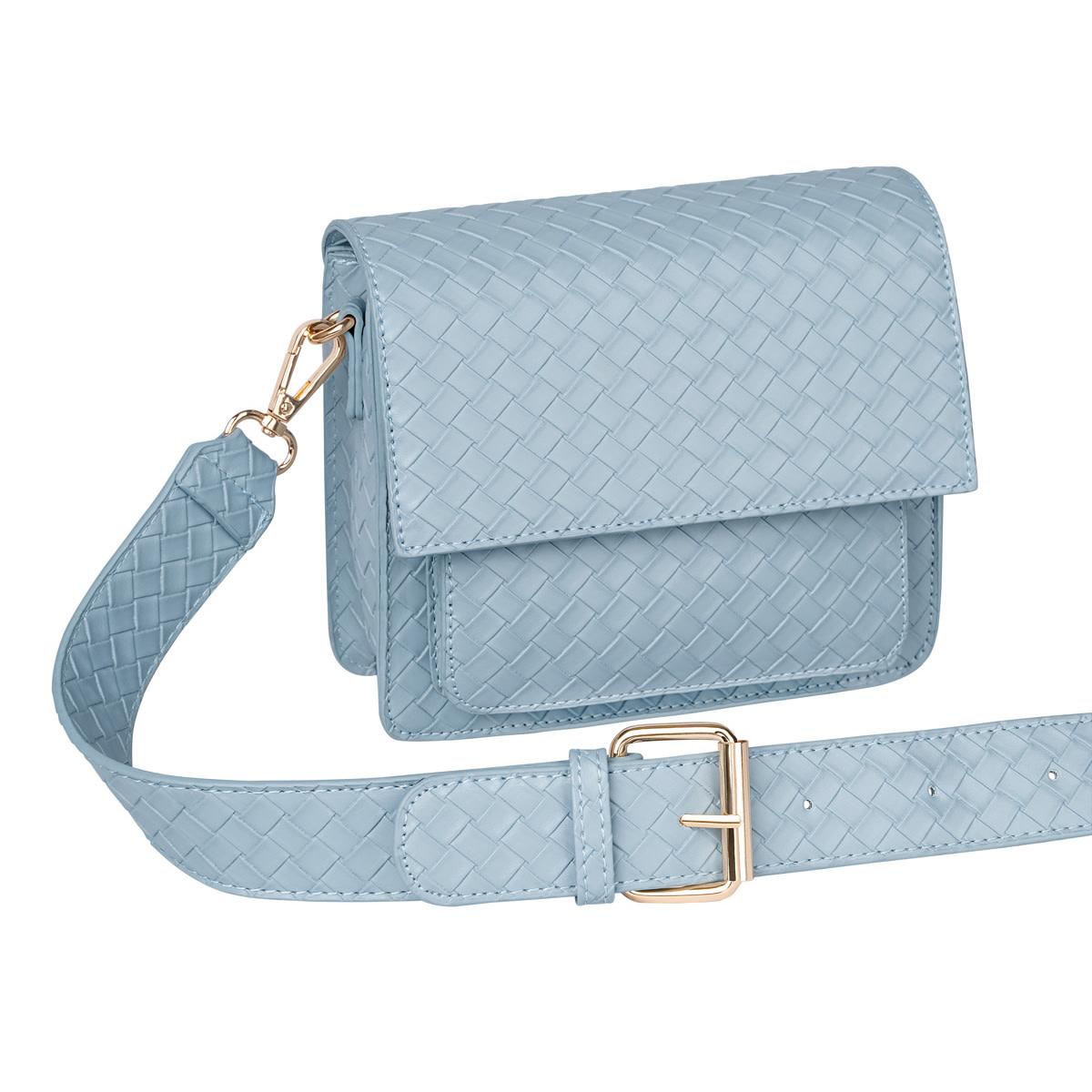 With love Bag braided  Blue 18cm x 15cm