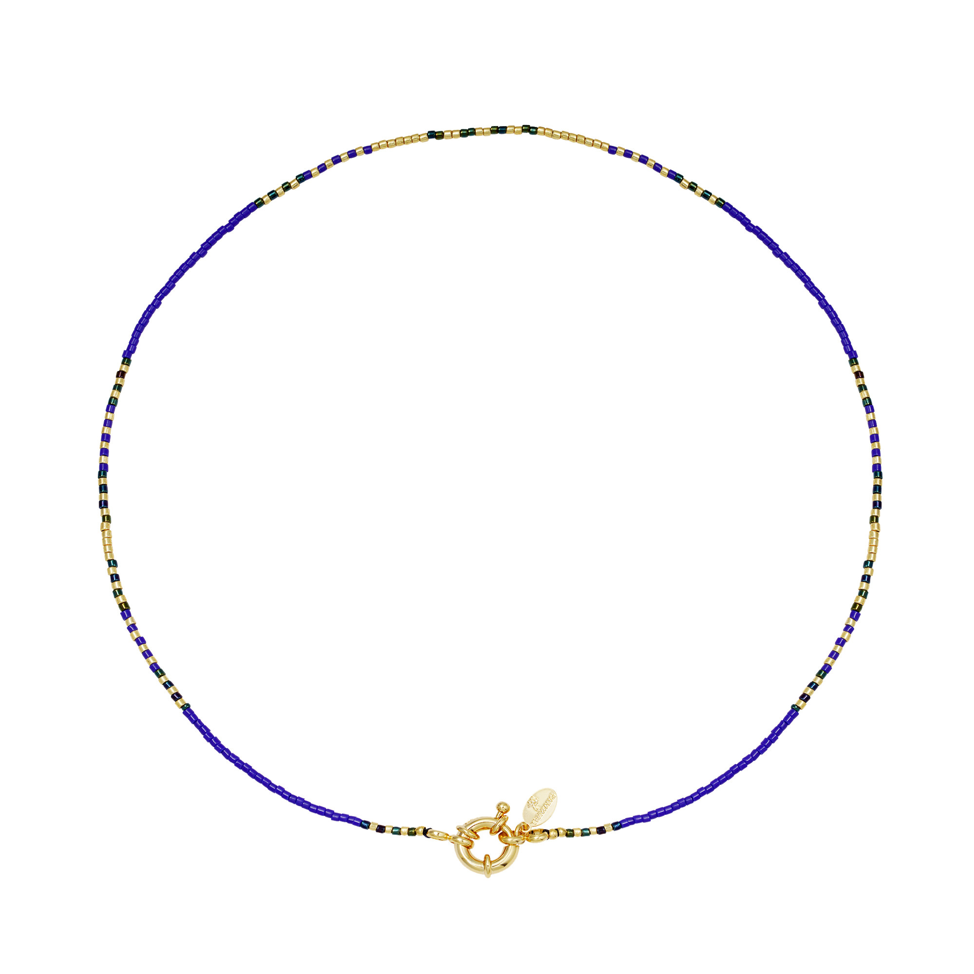 With love Necklace delicate - cobalt blue
