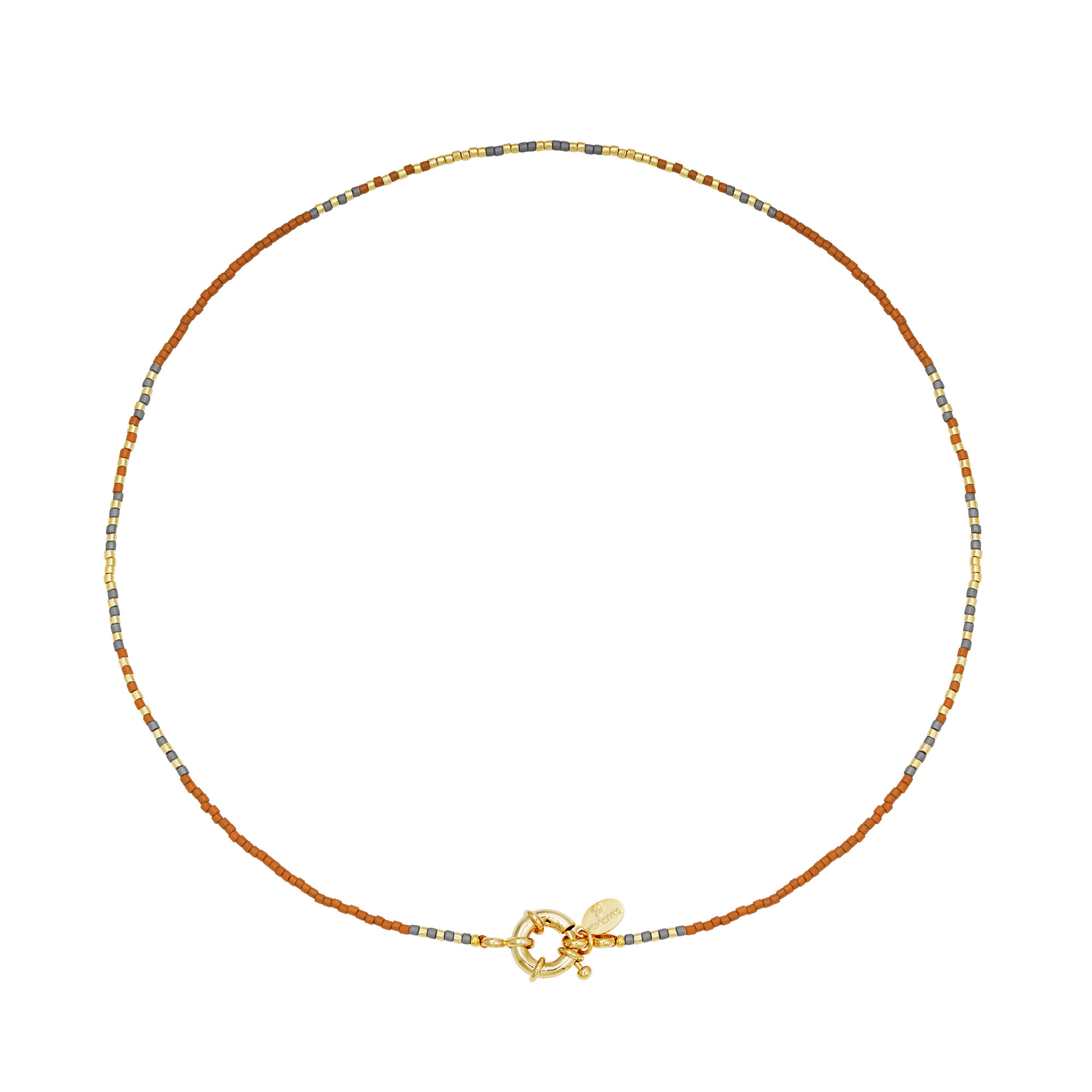 With love Necklace delicate - camel