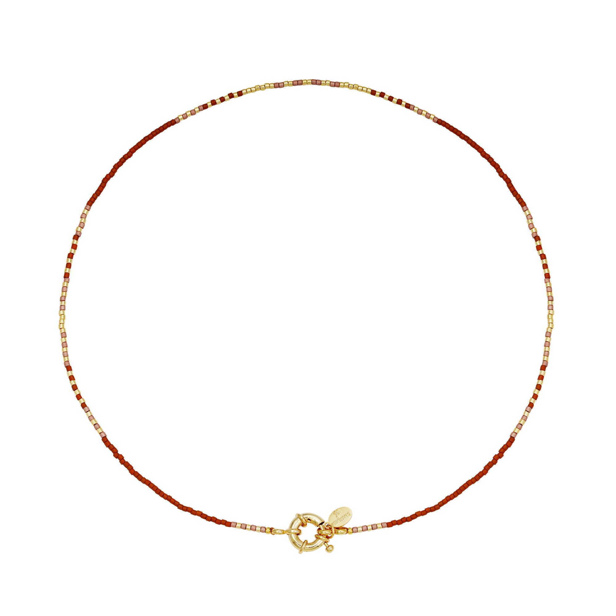With love Necklace delicate - cognac