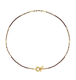 With love Necklace delicate -brown