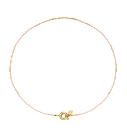 With love Necklace delicate -pink