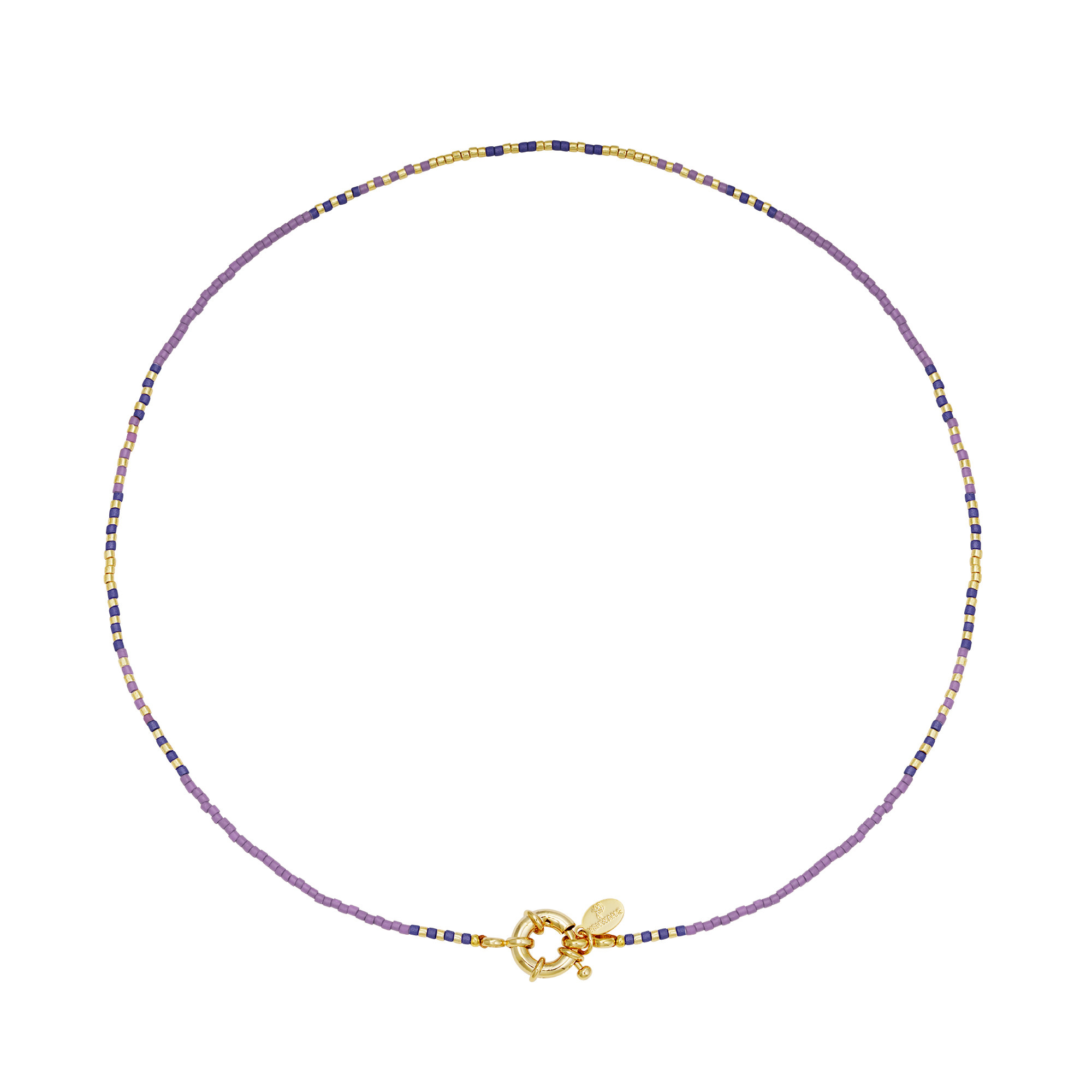 With love Necklace delicate -violet