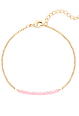 With love Bracelet fab beads - pink