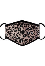 With love Kids mouth mask  - leopard light pink
