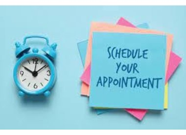 **MAKE AN APPOINTMENT**