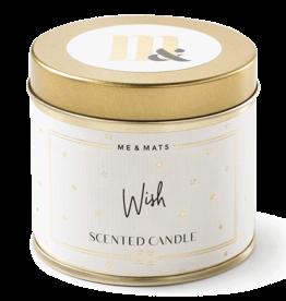 Me & Mats Tin candle - Wish