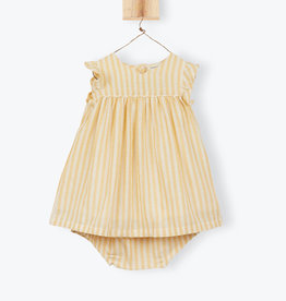 Arsène et les Pipelettes Striped baby dress