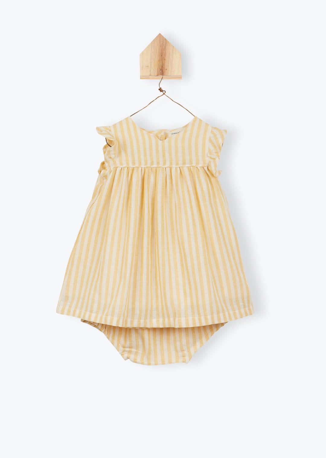 Arsène et les Pipelettes Striped baby dress
