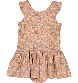 Wheat Swimsuit Diddi - flowers and seashells