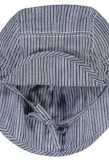 Wheat Baby boy sun hat - cool blue stripes