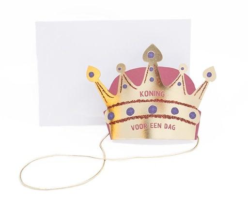 Enfant Terrible Enfant Terrible crown + enveloppe 'Koning voor een dag'